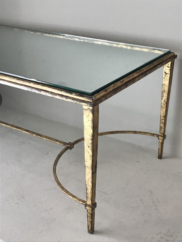 Furniture  - Coffee table in gilded wrought iron