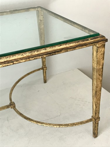Coffee table in gilded wrought iron -