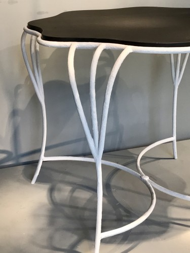 20th century - Pair of wrought iron tables