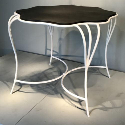Pair of wrought iron tables - 50