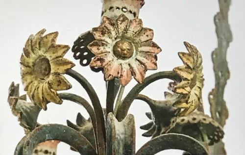 Wrought iron chandelier - Art Déco