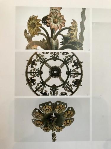 Antiquités - Wrought iron chandelier