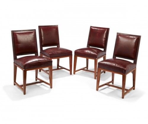 Four leather chairs