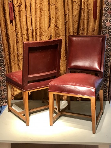 Four leather chairs -