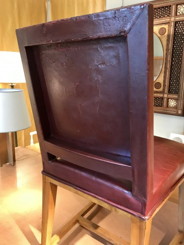 20th century - Four leather chairs