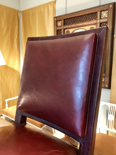 Four leather chairs - 50