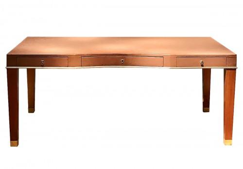 Leather desk by Blanche Klotz