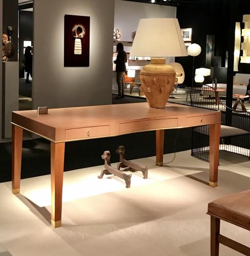 Leather desk by Blanche Klotz - Furniture Style Art Déco