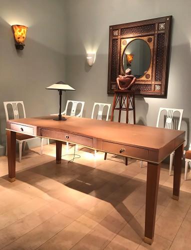 Leather desk by Blanche Klotz -