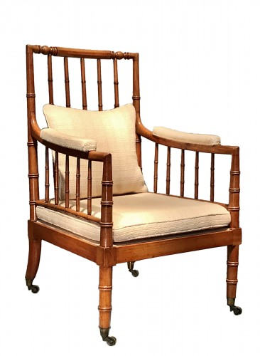 Large armchair with bars.