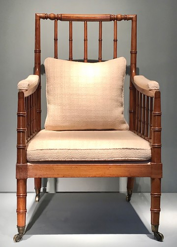 Large armchair with bars. - Seating Style Louis-Philippe