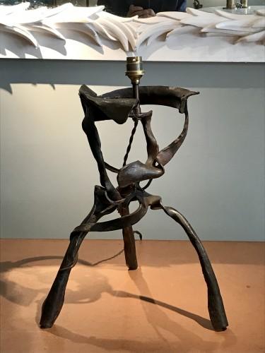 Lighting  - Sculpture lamp in wrought iron