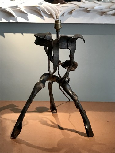Sculpture lamp in wrought iron - 50