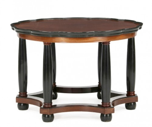 Living room table with column legs -