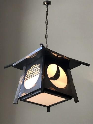 Lantern in Japanes style. - Sculpture Style Napoléon III