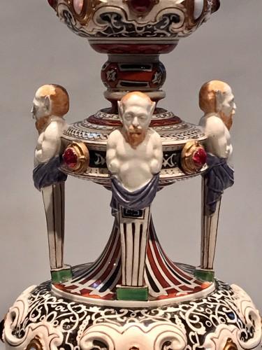 19th century - Pair of Worcester candelabra