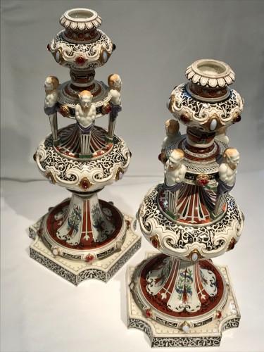 Pair of Worcester candelabra - Napoléon III