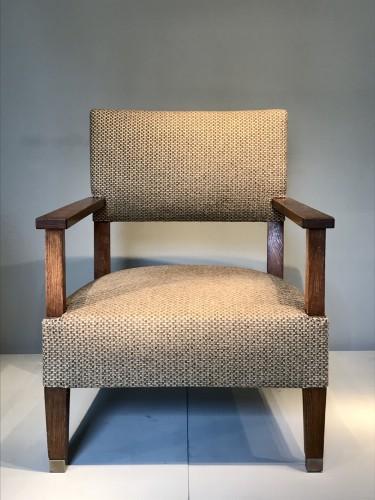 Paire de fauteuils en chêne 1930 - André Devêche - Seating Style Art Déco