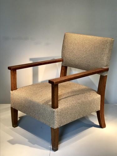Seating  - Paire de fauteuils en chêne 1930 - André Devêche