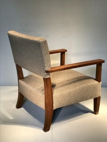 Paire de fauteuils en chêne 1930 - André Devêche -