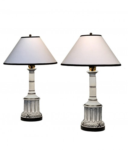 Pair of lamps by Madeleine Castaing