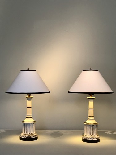 20th century - Pair of lamps by Madeleine Castaing