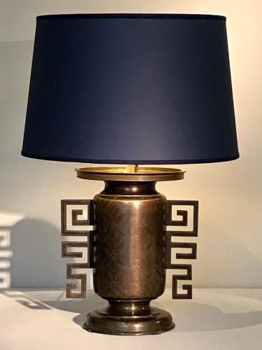 Lighting  - Pair of vases mounted in lamp