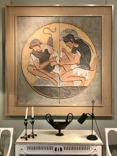 Bas-relief in plaster - Paintings & Drawings Style Art Déco