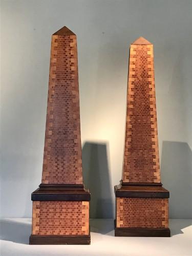 Pair of obelisks - Decorative Objects Style Art Déco