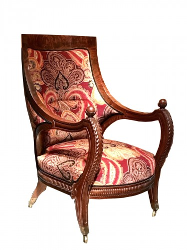 19th Comfortable mahogany armchair