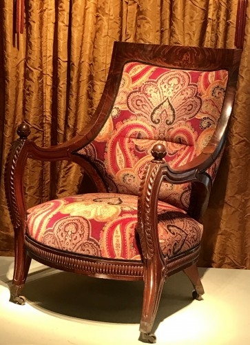 19th Comfortable mahogany armchair - Seating Style Louis-Philippe