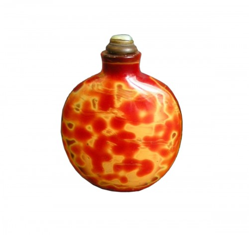 glass snuff bottle imitating the Realgar - 1750/1820 -