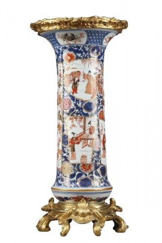 Large porcelain and Ormolu mount vase