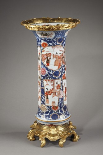 Large porcelain and Ormolu mount vase  - Asian Art & Antiques Style