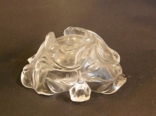 Brushwasher ( for the scholar ) rock Crystal sculpted - 19° century  - Asian Art & Antiques Style