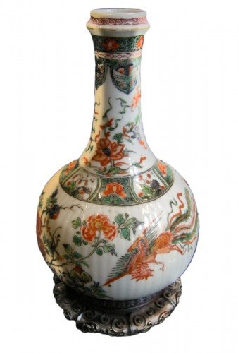 "Bottle ""famille verte"" porcelain"