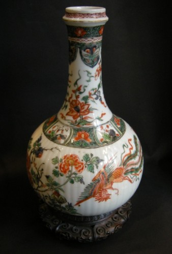 "Bottle ""famille verte"" porcelain -"
