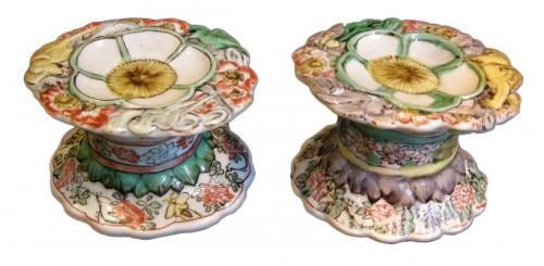 """Porcelain salts """"Famille verte"""" Kangxi period"""