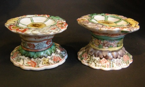 "Porcelain salts ""Famille verte"" Kangxi period - Asian Art & Antiques Style"