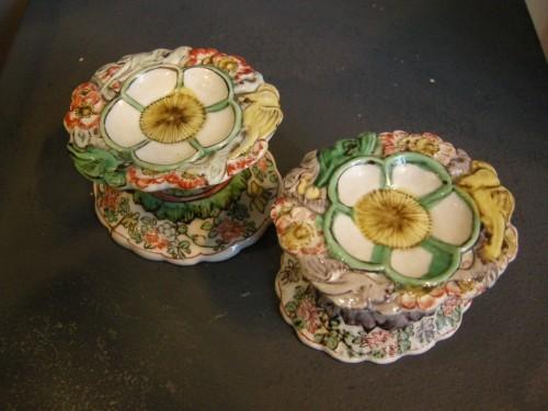 """Porcelain salts """"Famille verte"""" Kangxi period -"""