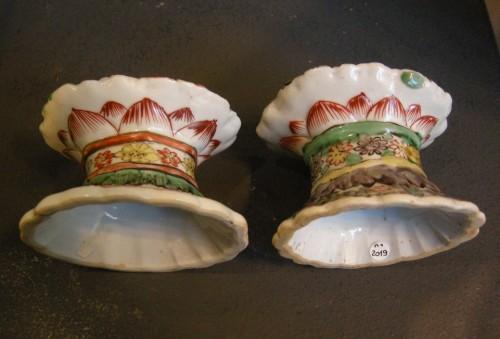"18th century - Porcelain salts ""Famille verte"" Kangxi period"