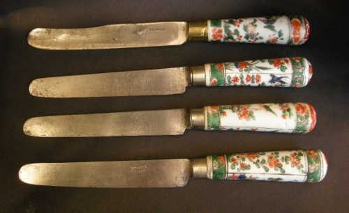 "Set of chinese ""Famille Verte"" porcelain cutlery - Kangxi period 1662/1722 - Asian Art & Antiques Style"