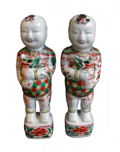 Pair of boys (Hehe erxian)  - Epoque Kangxi (1662-1722)