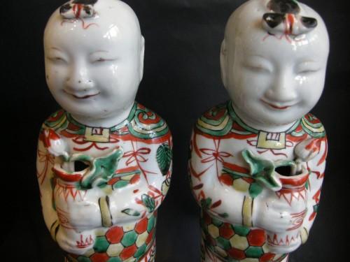 Pair of boys (Hehe erxian)  - Epoque Kangxi (1662-1722) - Asian Art & Antiques Style