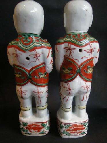Asian Art & Antiques  - Pair of boys (Hehe erxian)  - Epoque Kangxi (1662-1722)