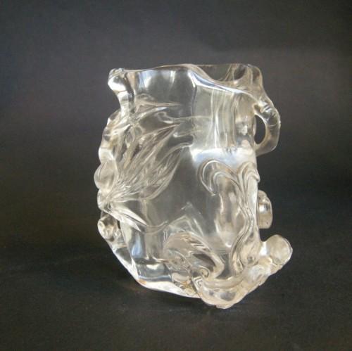 Brushpot rock Crystal sculpted - Asian Art & Antiques Style