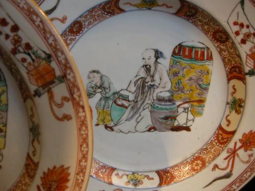 "Asian Art & Antiques  - Pair of plates porcelain ""famille verte"""