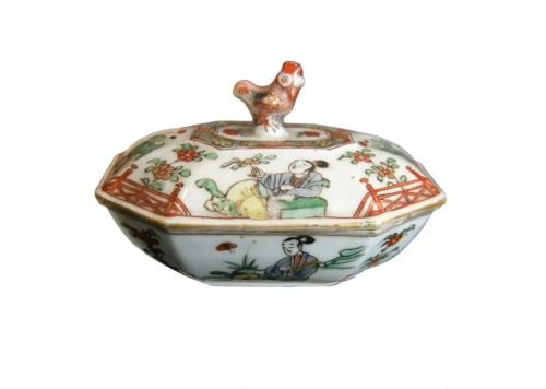 "spice box porcelain ""famille verte"" Kangxi period 1662/1722"