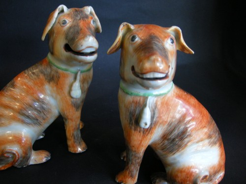 Asian Art & Antiques  - pair of European dogs chinese export -  about 1770