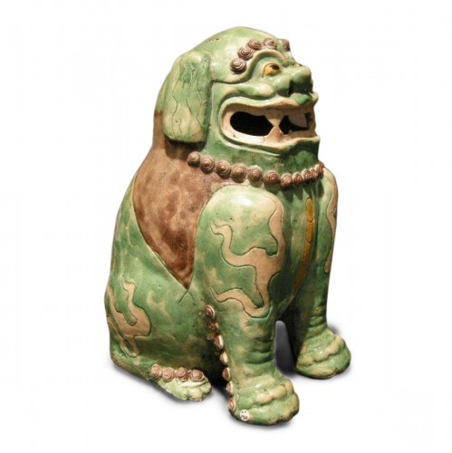 Important Fo dog biscuit  - Kangxi period 1662/1722